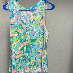 Lily Pulitzer Essie Tank Top Size Large Worn Once!